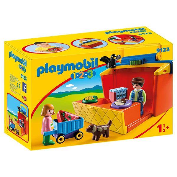 Playmobil 9123 1.2.3 Pasta De Mercado
