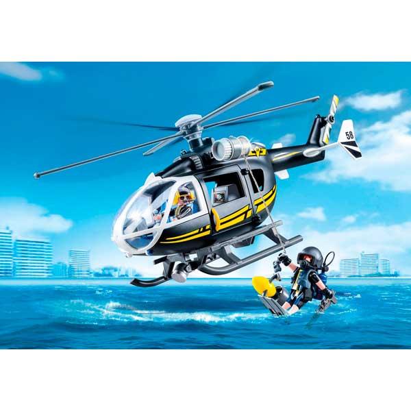 Playmobil 9363 Helicóptero Fuerzas Especiales City - Imatge 2