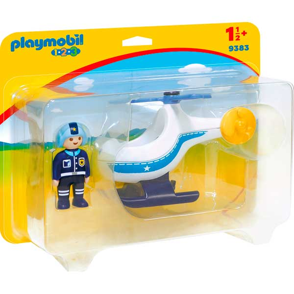 Helicòpter de Policia Playmobil 1.2.3 - Imatge 1