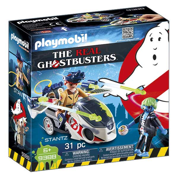 Playmobil 9388 Stanz con Moto Voladora Ghostbusters