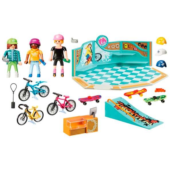 Playmobil 9402 Tienda de Bicicletas y Skate - Imatge 1