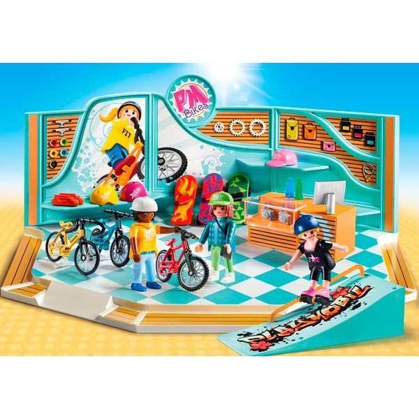 Playmobil 9402 Tienda de Bicicletas y Skate - Imatge 2