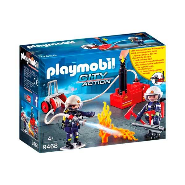 Playmobil 9468 Bomberos con Bomba de Agua City Action