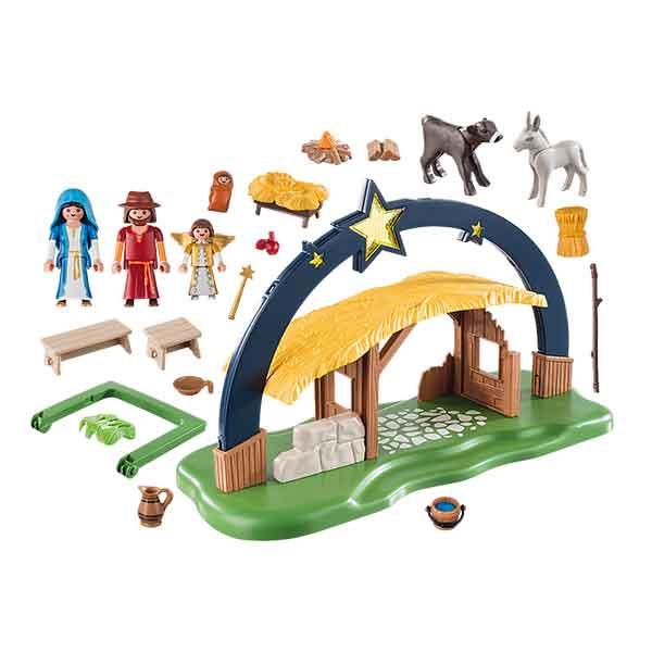 Playmobil Christmas 9494 Belén con Luz - Imatge 1