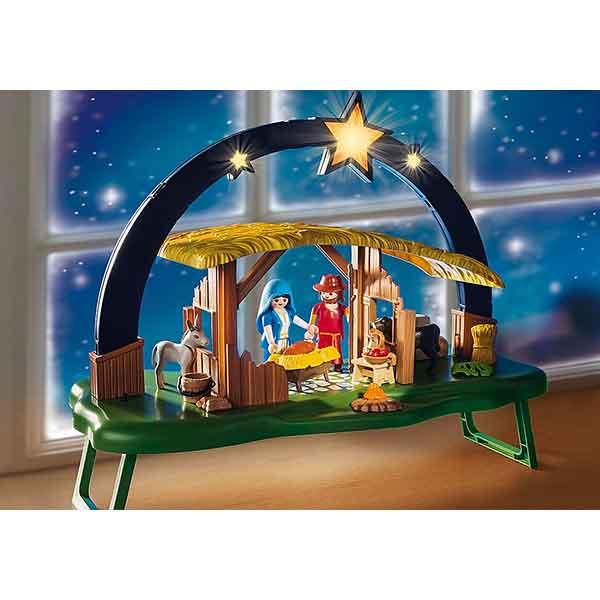 Playmobil Christmas 9494 Belén con Luz - Imatge 2
