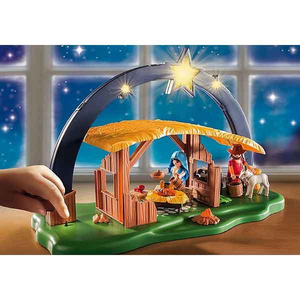 Playmobil Christmas 9494 Belén con Luz - Imatge 3