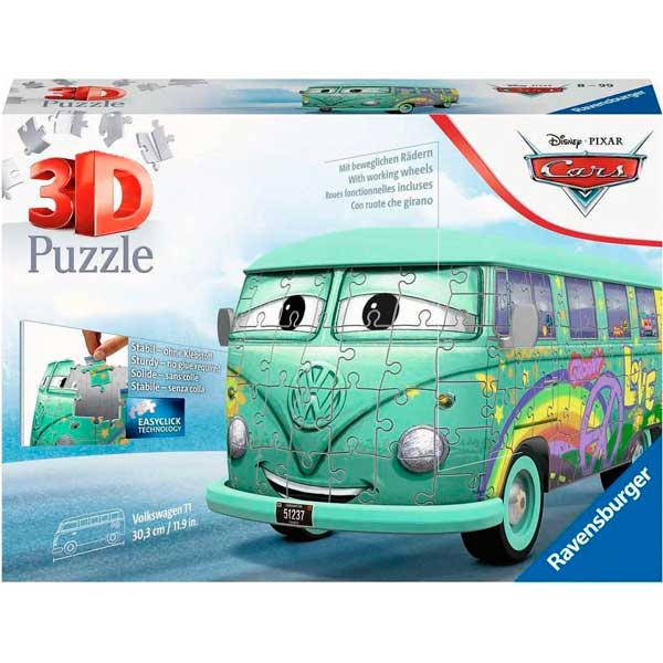 Cars Puzzle 3D Volkswagen T1 Fillmore