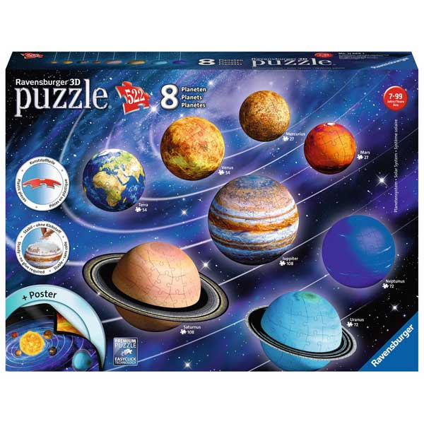 Puzzle 3d el sistma planetario