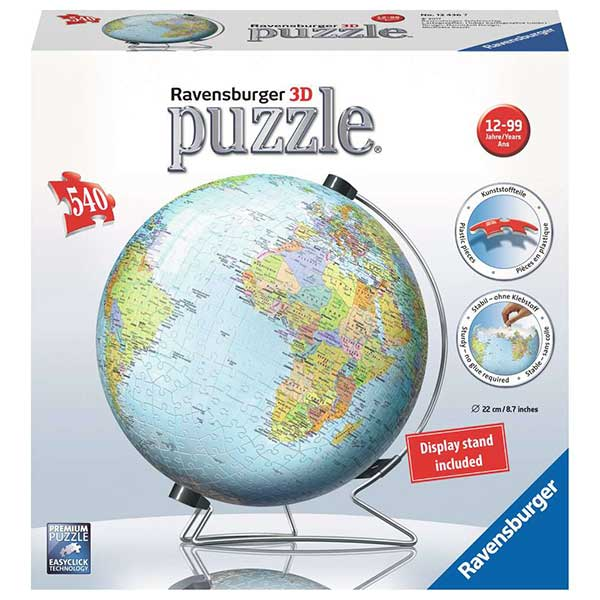 Puzzle 3D World Ball 540P