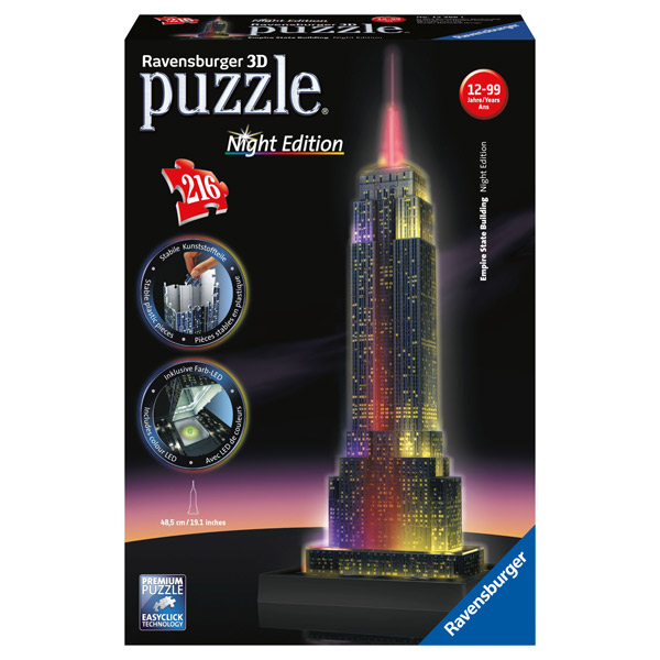 Puzzle 3D 216P Empire State Com Luz