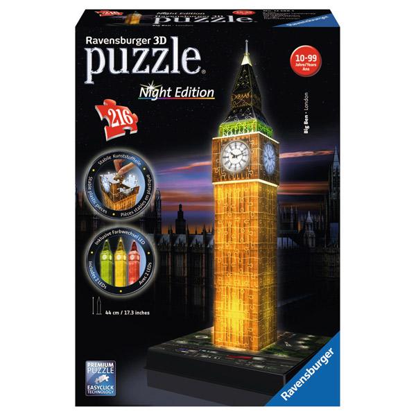 Puzzle 3D Big Ben Night Led