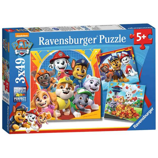 Patrulla Canina Puzzle Infantil 3x49p