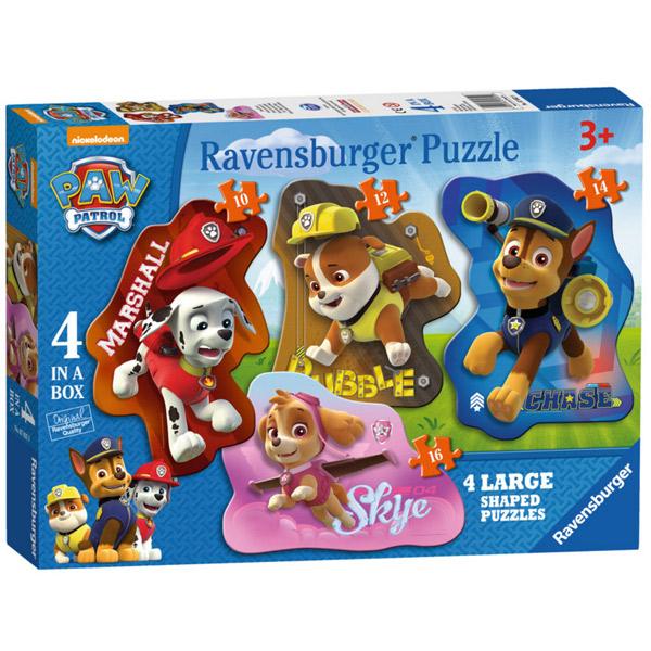 Puzzle 4 Figures Siluetes Paw Patrol - Imatge 1