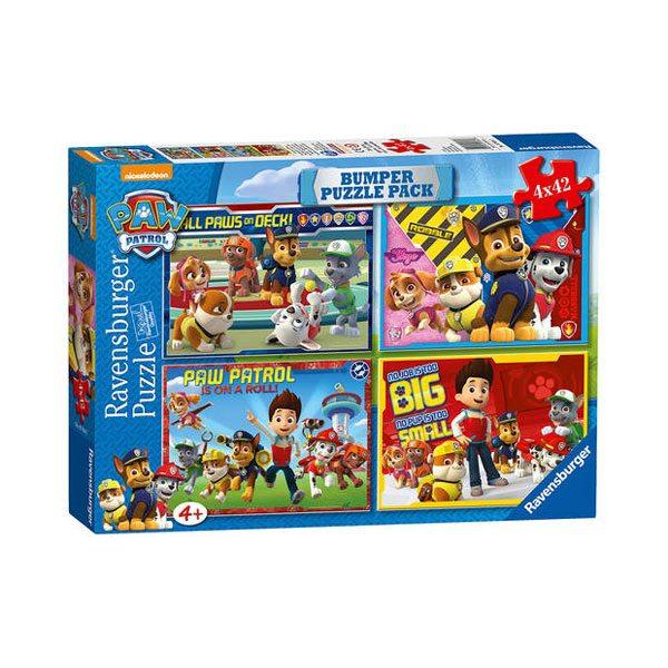 Puzzle 4x42 Bumper Pack Paw Patrol - Imatge 1