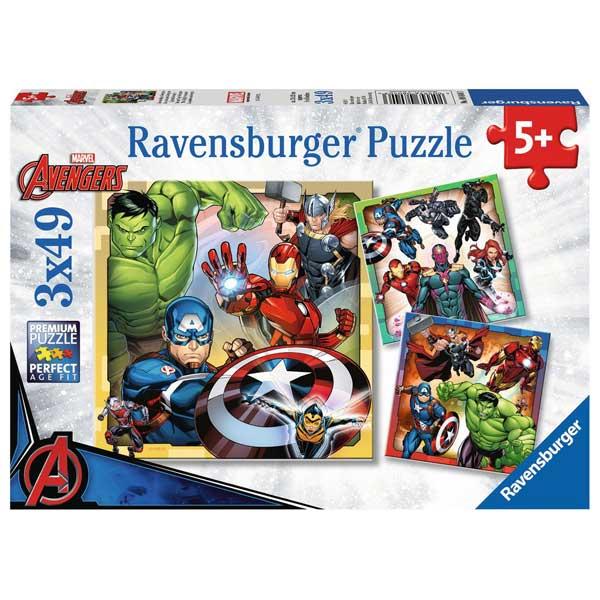 Os Vingadores Puzzle Infantil 3x49p