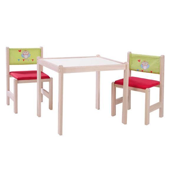 Taula amb 2 Cadires Fusta - Imatge 1