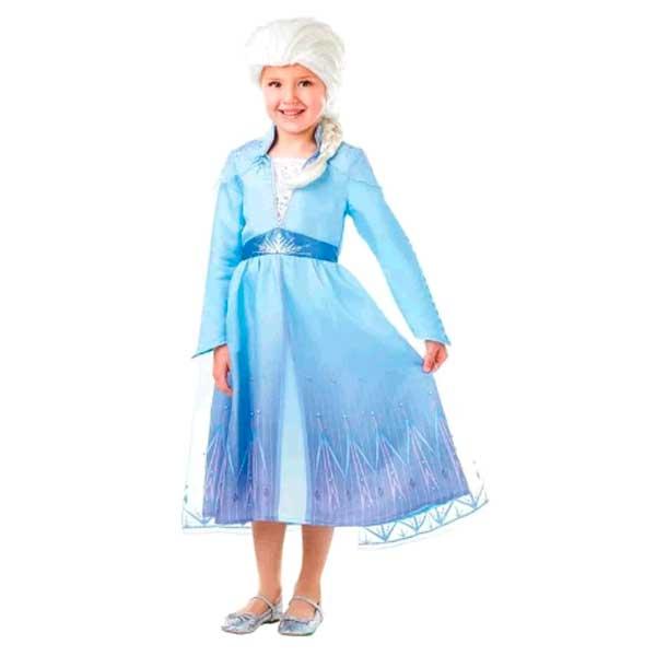 Disfraz Frozen 2 Elsa con Peluca en caja 5-6 años