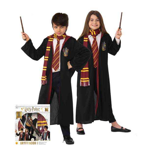 Harry Potter Disfarce Infantil com Acessórios em Caixa 4-10 anos