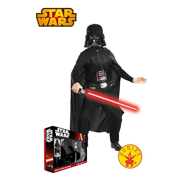 Disfraz Darth Vader con espada Star Wars 3-4 años