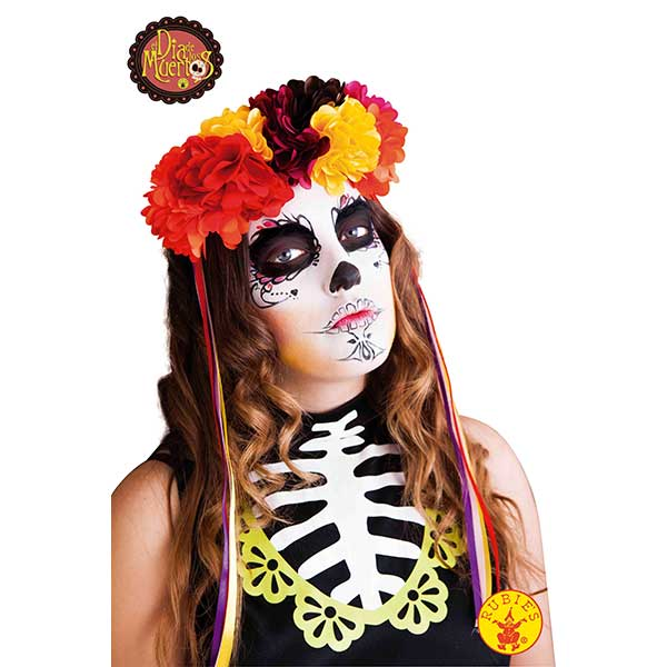 Diadema Luj Katrina Rosas Halloween