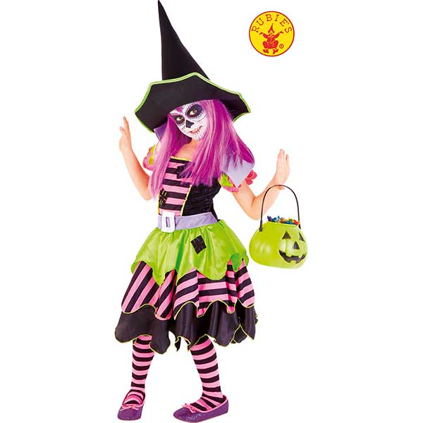 Disfraz Brujita Bosque Halloween 3-4 Años