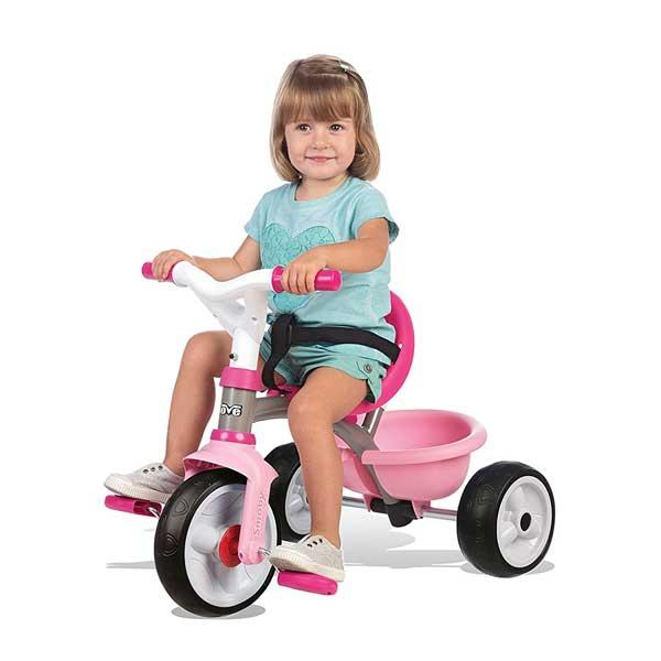 Triciclo Bebé Be Move Rosa Rueda Silenciosa de Smoby (740327) - Imatge 1