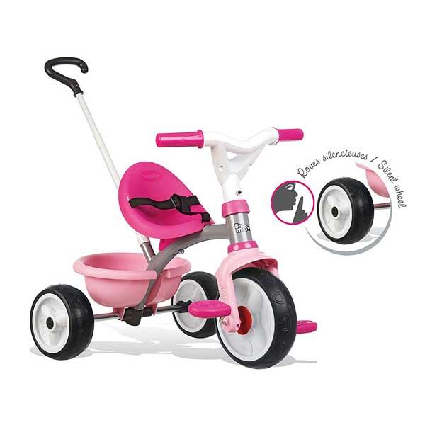 Triciclo Bebé Be Move Rosa Rueda Silenciosa de Smoby (740327) - Imatge 3