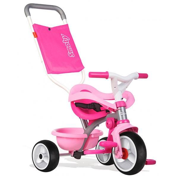 Triciclo Bebé Be Move Confort Rosa Rueda Silenciosa de Smoby (740404)