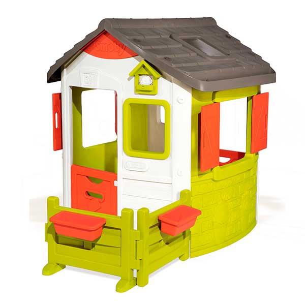 Casita infantil personalizable Jura Lodge II con jardín de Smoby (810501) - Imagen 1