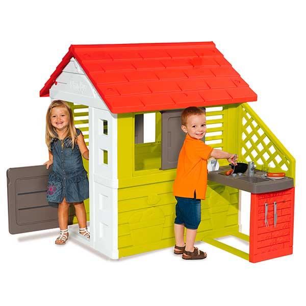 Casa infantil Nature II con cocina y accesorios de Smoby (810713) - Imatge 1
