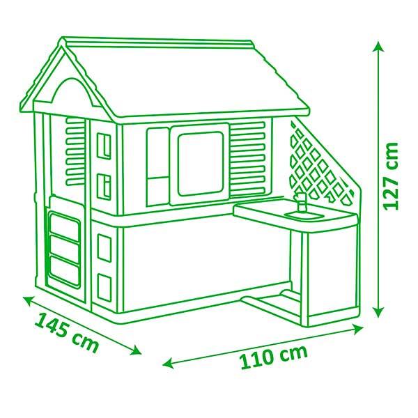 Casa infantil Nature II con cocina y accesorios de Smoby (810713) - Imatge 5