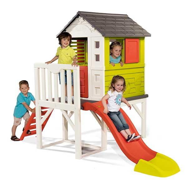 Casa infantil de la playa con tobogán de Smoby (810800) - Imagen 1