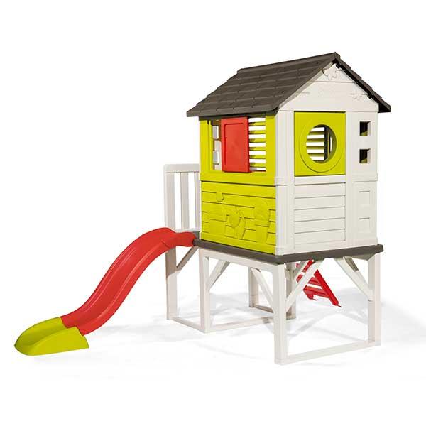 Casa infantil de la playa con tobogán de Smoby (810800) - Imagen 2