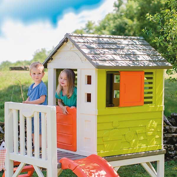 Casa infantil de la playa con tobogán de Smoby (810800) - Imagen 3