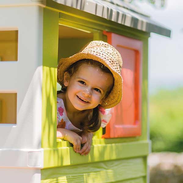 Casa infantil de la playa con tobogán de Smoby (810800) - Imagen 4
