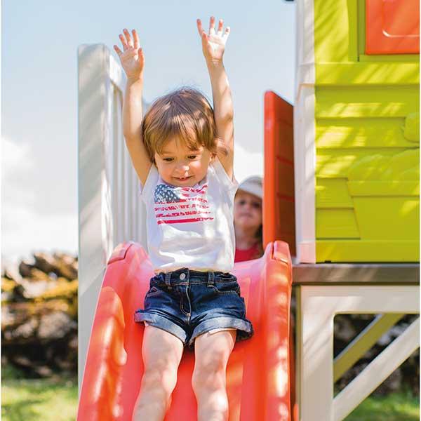 Casa infantil de la playa con tobogán de Smoby (810800) - Imagen 5