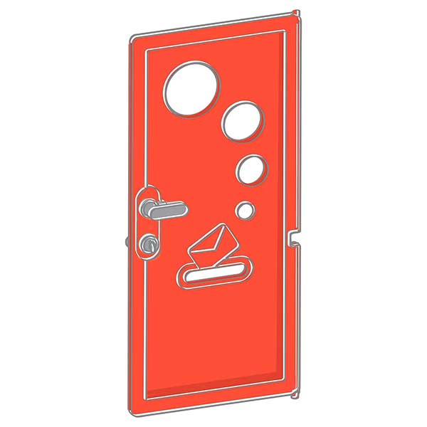 Puerta con picaporte para Jura Lodge II de Smoby (810905) - Imatge 1