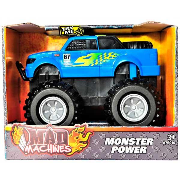 Coche Monster Power Azul Luces y Sonidos