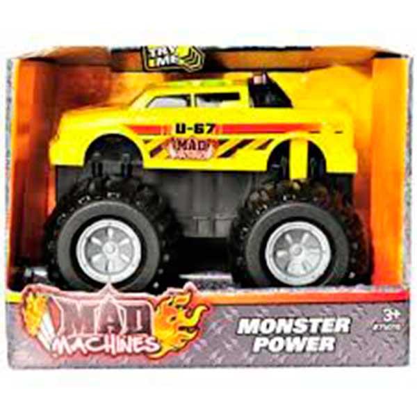 Coche Monster Power Amarillo Luces y Sonidos