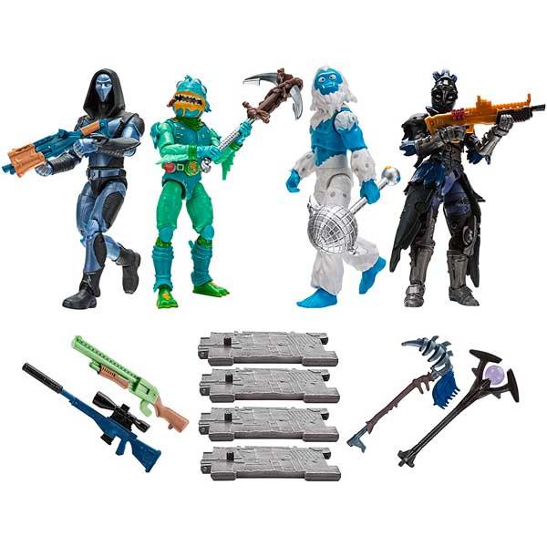 Fortnite Pack 4 Figuras Squad 10cm